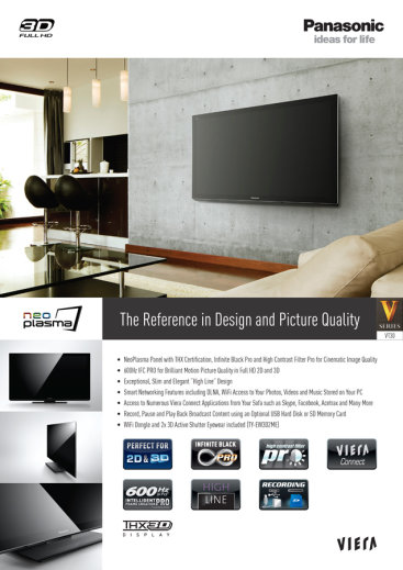 Panasonic Product Sheets