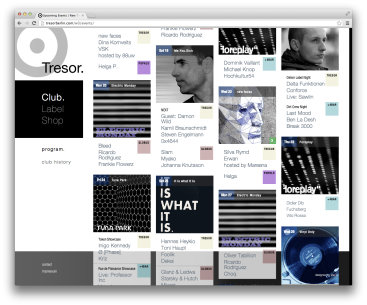 Tresor Website & Shop